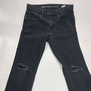 Old Navy   Black Distress Super Skinny Denim Jeans